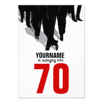 "70th Birthday Swingers Rat Pack Party 5"" X 7"" Invitation Card"
