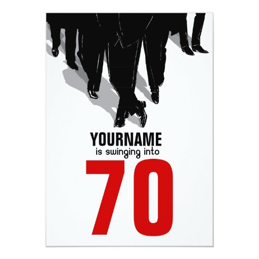 70th Birthday Swingers Rat Pack Party Personalized Announcement