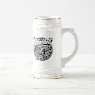70th Birthday T-shirts and Gifts 18 Oz Beer Stein