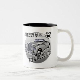 70th Birthday T-shirts and Gifts Two-Tone Coffee Mug