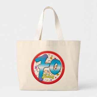 70th Birthday Today Tote Bags