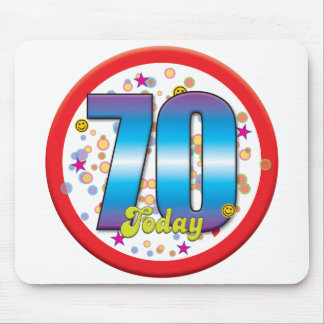 70th Birthday Today v2 Mouse Pad