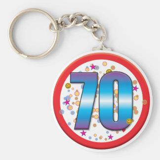 70th Birthday v2 Keychain
