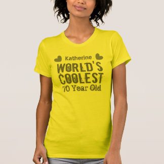 70th Birthday World's Coolest 70 Year Old F70 Tee Shirt