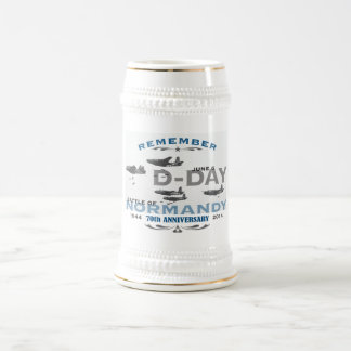 70th D-Day Air Battle of Normandy Anniversary 18 Oz Beer Stein