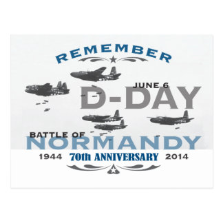 70th D-Day Air Battle of Normandy Anniversary Postcard
