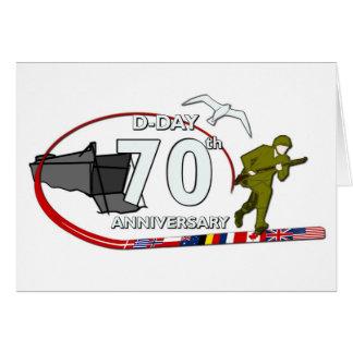 70th D-Day anniversary Tarjeta De Felicitación