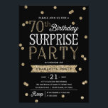 "70th Glitter Confetti Surprise Party Invitation<br><div class=""desc"">This chic and stylish 70th Birthday Surprise Party invitation features an elegant faux rose gold glitter confetti theme with modern typography. Customize background color to match event theme color. For an even more memorable invitation select a die-cut shape, textured paper or a double thick paper. For a custom birthday year,...</div>"