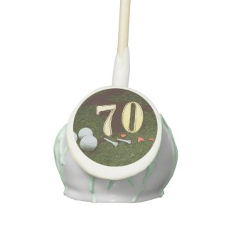 70th Golf birthday Par Tee Paper Plate with golf Cake Pops