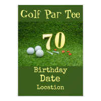 70th Golf birthday Par Tee party Invitation