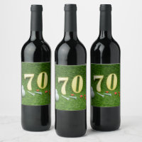 70th Golf birthday Par Tee Wine Label