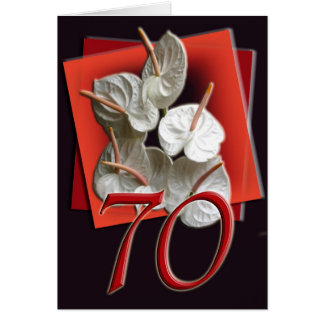 70th Happy Birthday Card