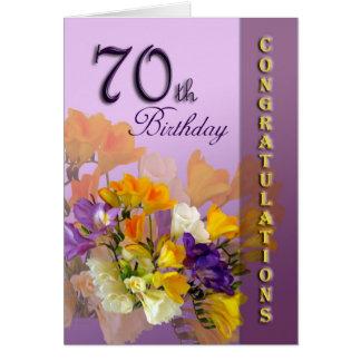 70th Happy Birthday Congratulations Card
