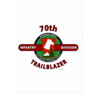 "70TH INFANTRY DIVISION ""TRAILBLAZER"" POSTCARD"