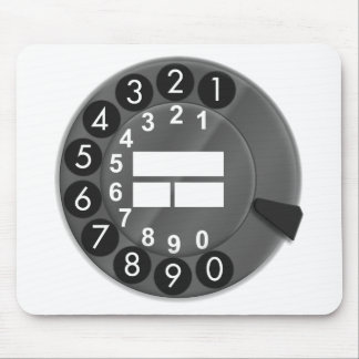 70th rotary dial phone mousepad