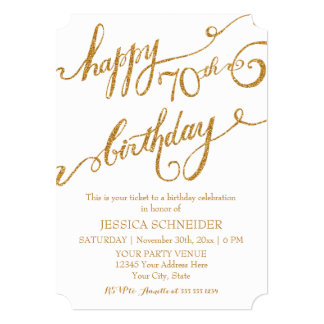 70th, Seventieth Birthday Party Ticket Celebration Card
