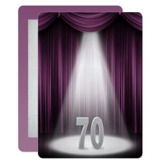 70th Silver Wedding Anniversary Card