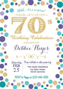 70th surprise 40th birthday invitations zazzle
