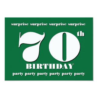70th SURPRISE Birthday Party Invitation - GREEN