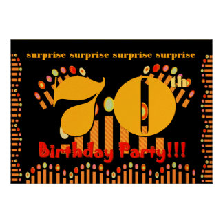70th SURPRISE Birthday Party Invitation Template
