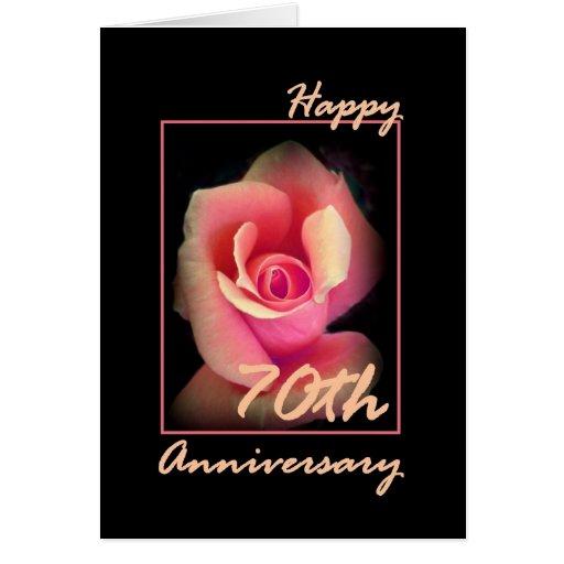 Th wedding anniversary card with pink rosebud zazzle