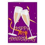 70th wedding anniversary champagne celebration greeting cards