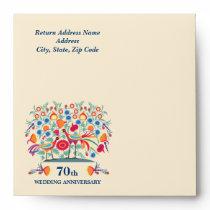 70th Wedding Anniversary Custom Envelopes
