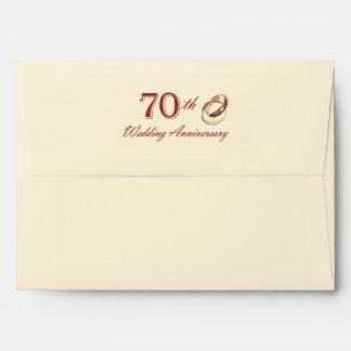 70th Wedding Anniversary Customizable Envelopes