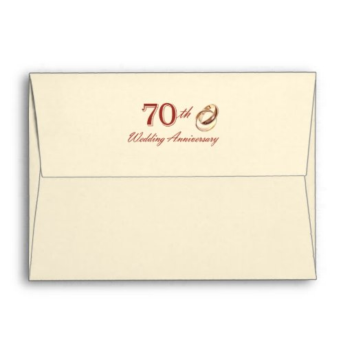 70th Wedding Anniversary Customizable Envelopes Envelopes