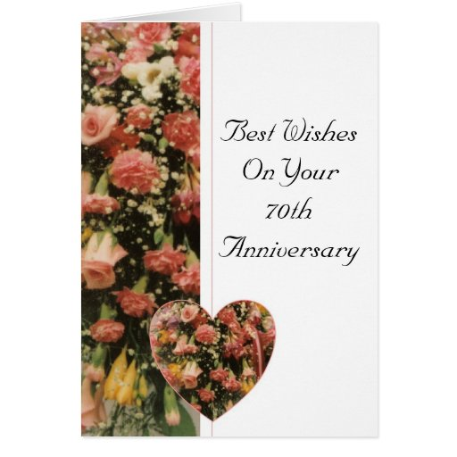 Th wedding anniversary flower bouquet greeting card zazzle