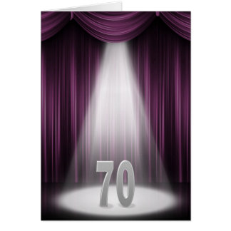 70th wedding anniversary in spotlight card