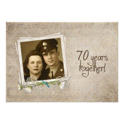 70th Wedding Anniversary Open House Personalized Invitation
