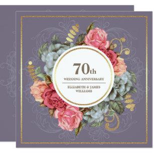 70th Anniversary Print Platinum Anniversary 70 Anniversary Sign
