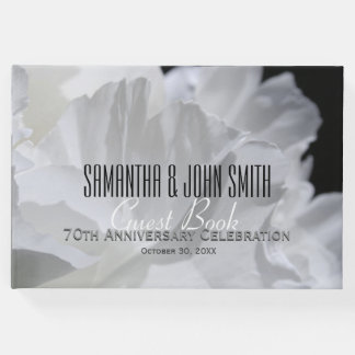 70th Wedding Anniversary Party Peony Guest Book 2