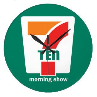 710 Morning Show Men's Tee Trucker Hat Large Clock