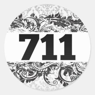 711 PEGATINA REDONDA