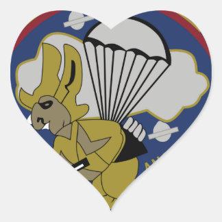 711o Artillería aerotransportada Pegatina En Forma De Corazón