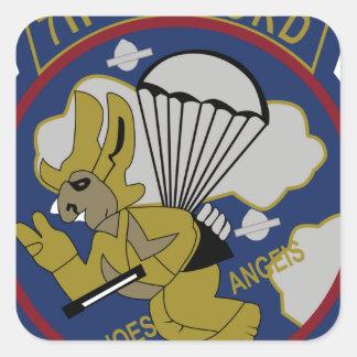 711o Artillería aerotransportada Pegatina Cuadrada