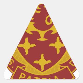 711o Batallón del ingeniero Pegatina Triangular