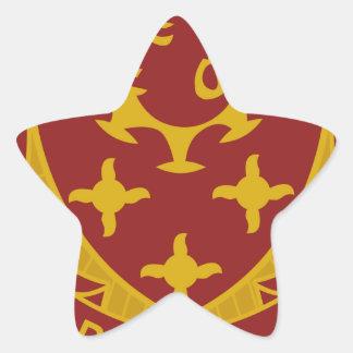 711o Batallón del ingeniero Pegatina En Forma De Estrella