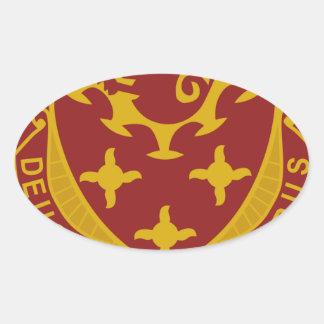 711o Batallón del ingeniero Pegatina Ovalada
