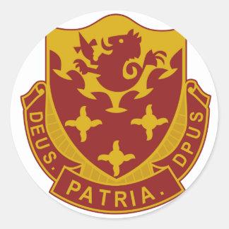 711o Batallón del ingeniero Pegatina Redonda