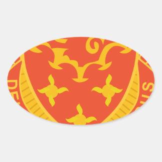 711o Maint. Batallón Pegatina Ovalada