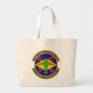 712th Aircraft Maintenance Squadron Large Tote Bag