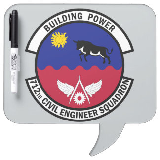 712th Civil Engineer Squadron - Building Power Dry Erase Board