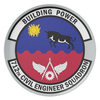 712th Civil Engineer Squadron - Building Power Melamine Plate