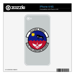 712th Civil Engineer Squadron - Building Power Skin For iPhone 4S