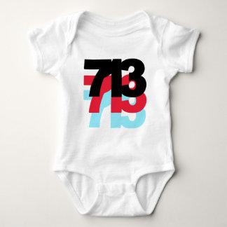 713 Area Code Baby Bodysuit