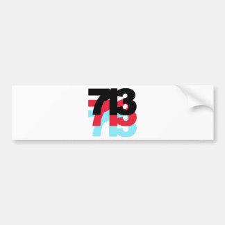 713 Area Code Bumper Sticker