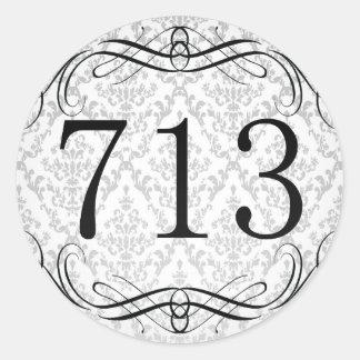 713 Area Code Classic Round Sticker